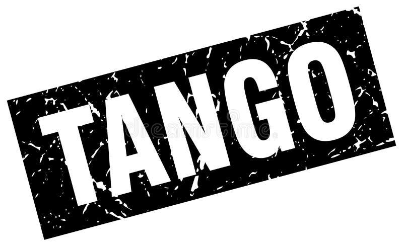 Kwadratowy grunge tanga znaczek ilustracji
