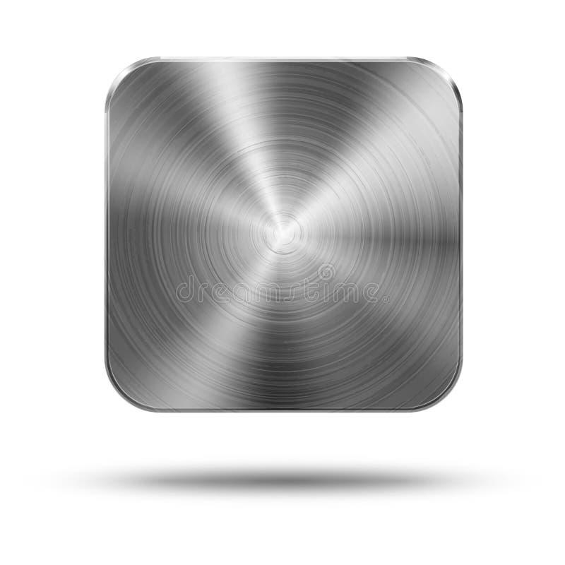 Kwadratowy guzika metal ilustracji