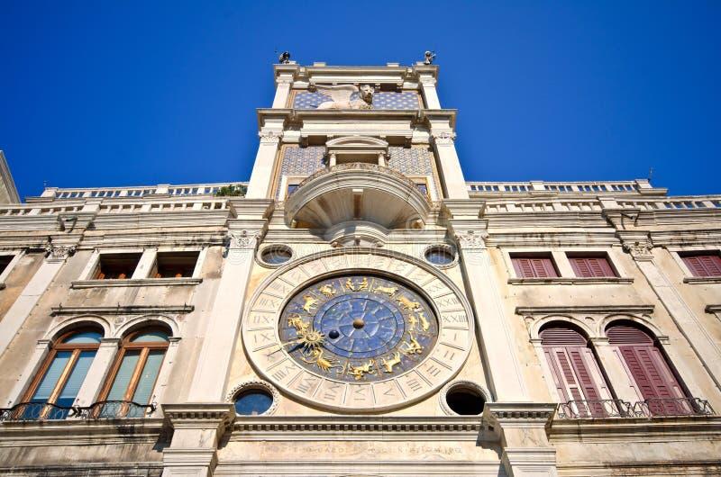 kwadratowy oceny zegarowy st s basztowy Venice fotografia stock