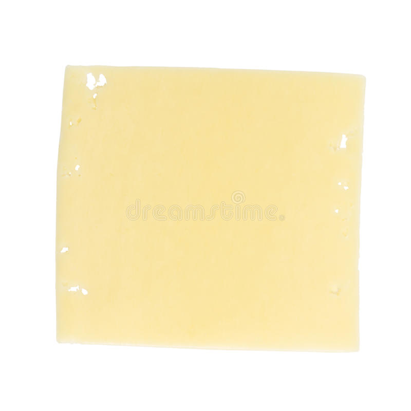 Kwadratowy plasterek edam ser obraz royalty free