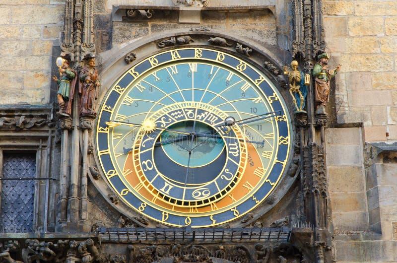 kwadratowy Prague astronomiczny zegarowy stary miasteczko zdjęcie stock