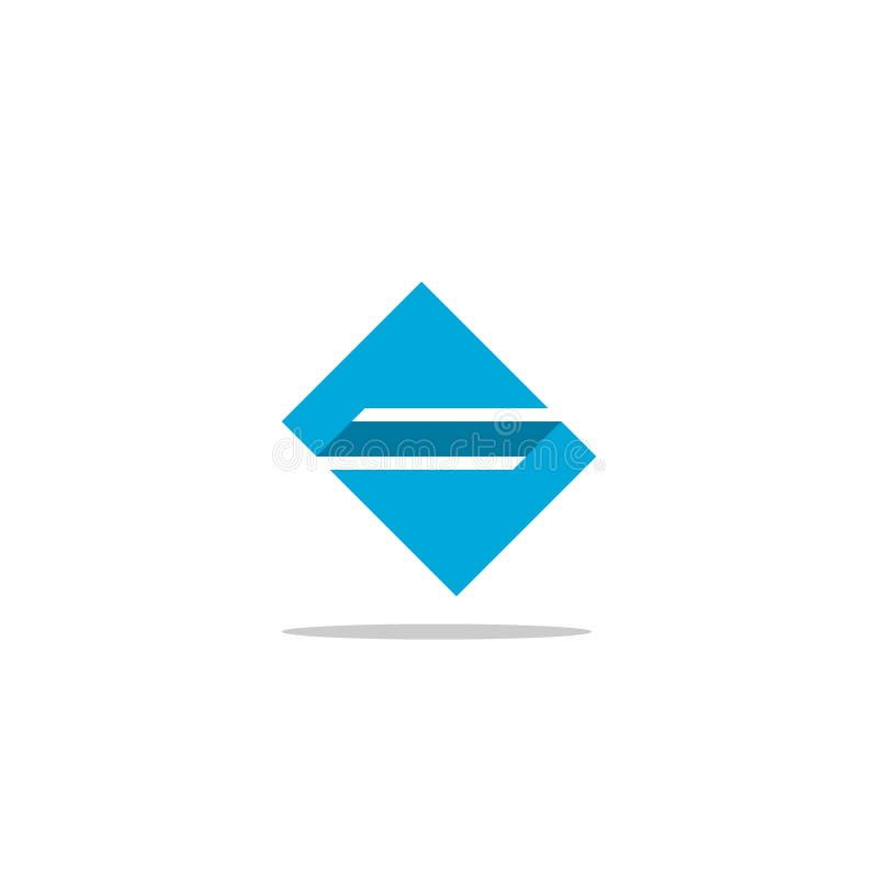 Kwadratowy S listu logo royalty ilustracja