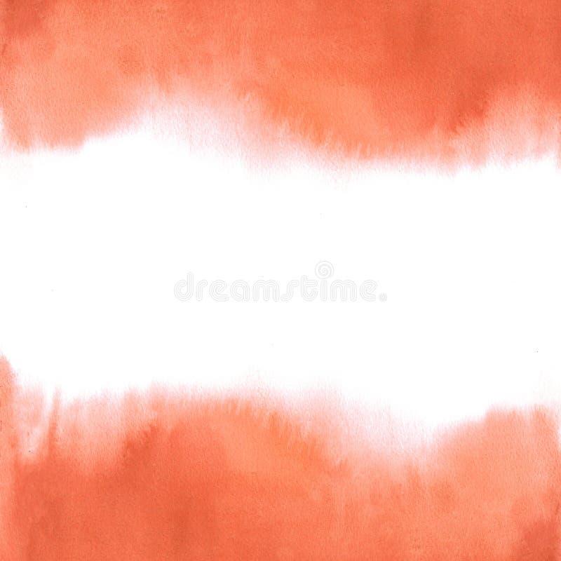 Kwadratowy tło czereśniowego pomidoru akwareli czerwony abstrakcjonistyczny gradient zdjęcie royalty free