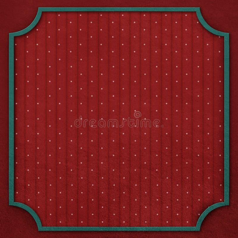 Kwadratowy tło z rocznik ramą 6. royalty ilustracja