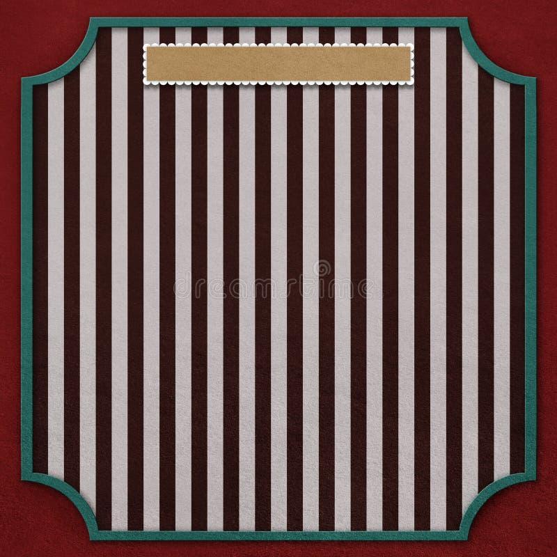 Kwadratowy tło z rocznik ramą 4. royalty ilustracja