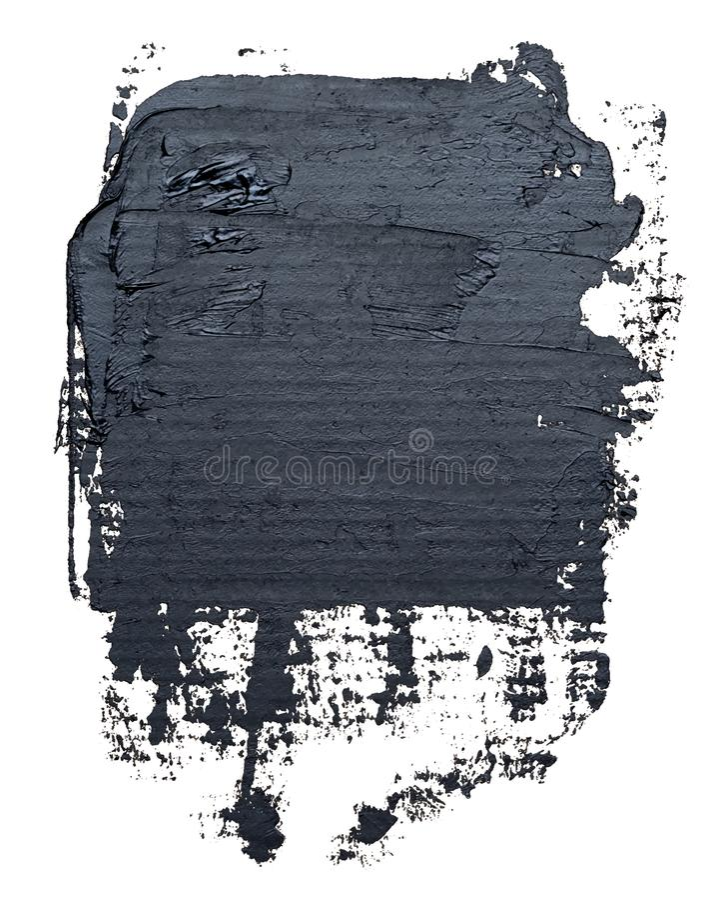 kwadratowy textured czarny nafcianej farby muśnięcia uderzenie royalty ilustracja