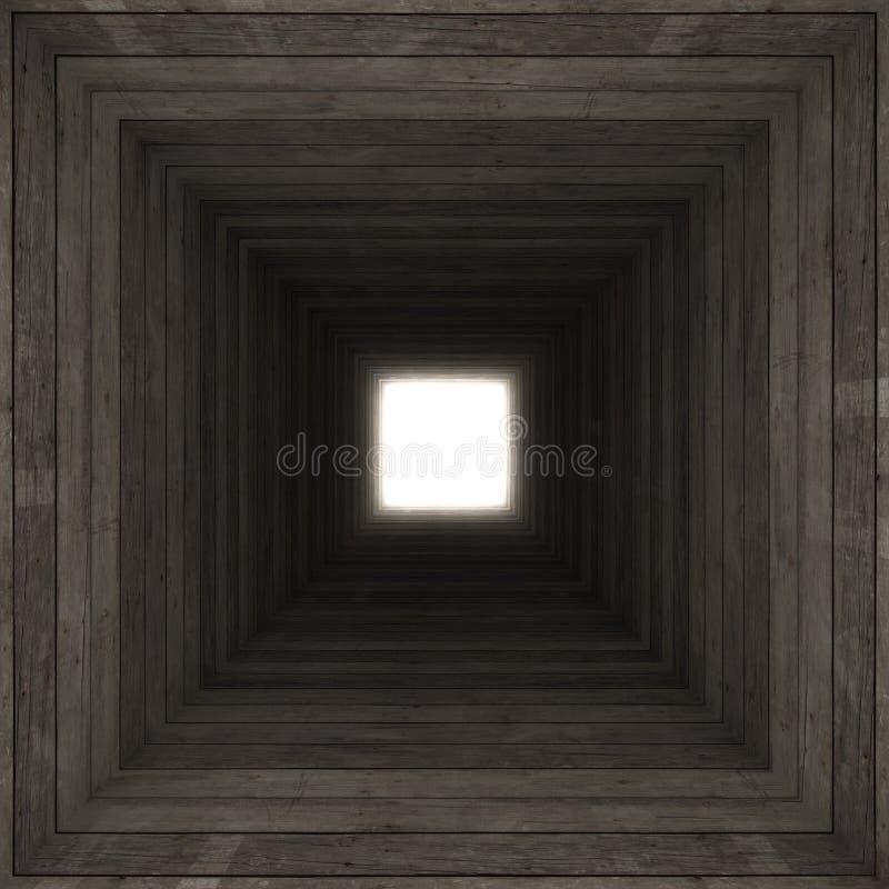 kwadratowy tunel ilustracja wektor