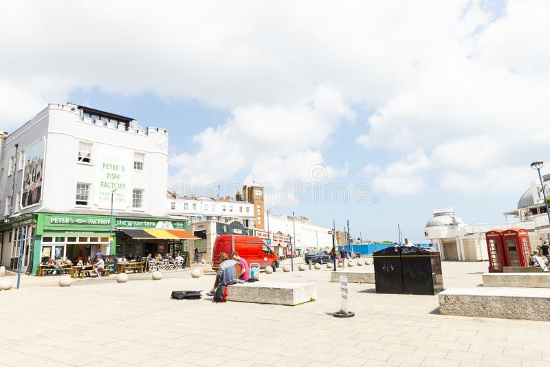 Kwadratowy widok w Ramsgate, Kent, Zjednoczone Kr?lestwo zdjęcia royalty free