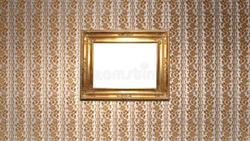 kwadratowy złoto rocznik fotografia royalty free