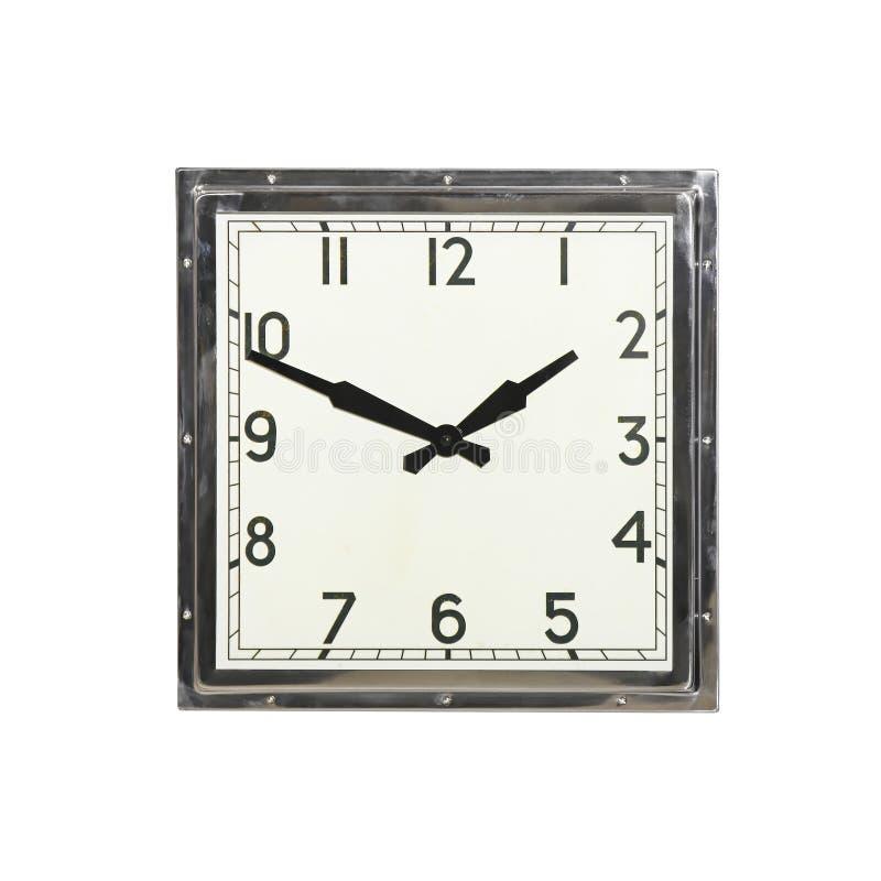 Kwadratowy zegar obraz stock