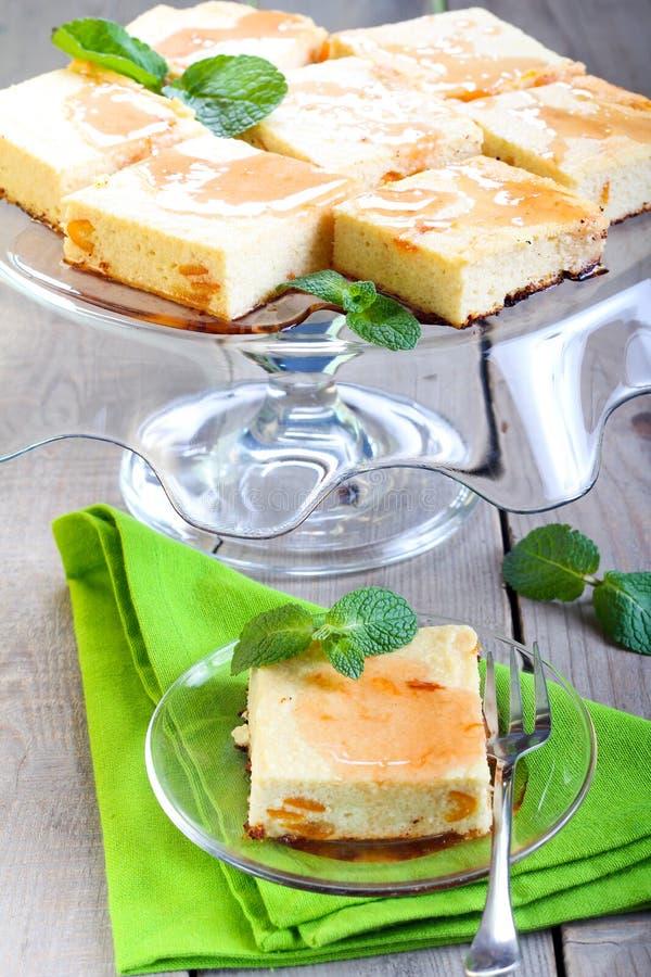 Kwadraty cheesecake fotografia stock