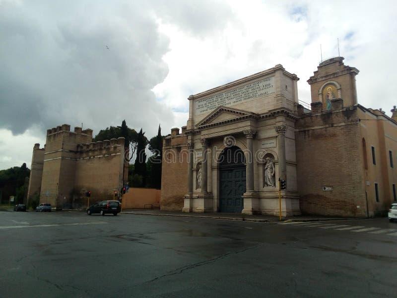 Kwadraty i ulicy Rzym, W?ochy zdjęcia royalty free