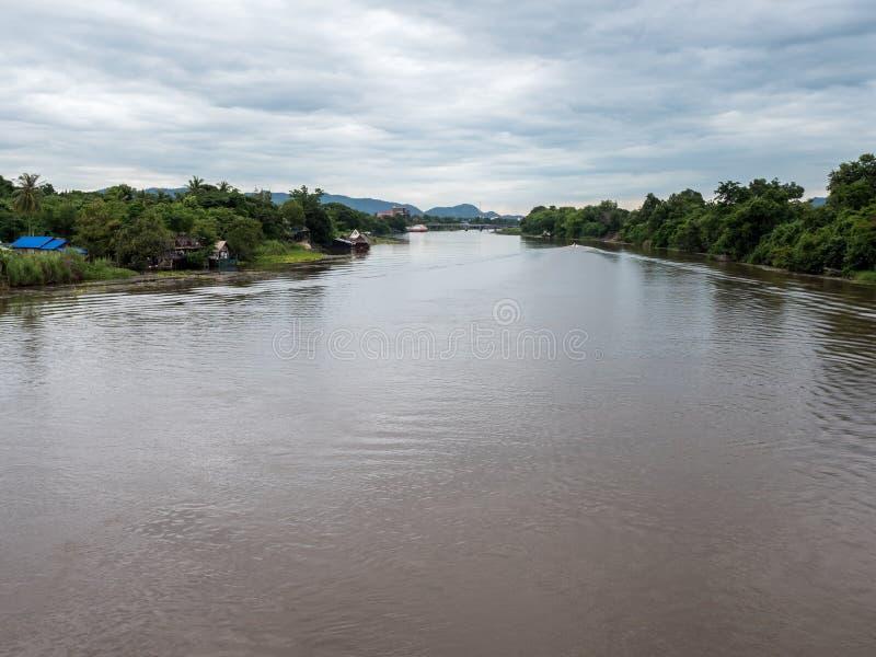 Взгляд реки Kwai стоковое фото rf