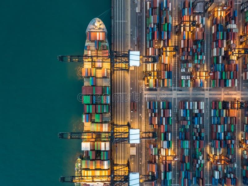 Kwai Tsing zbiornika terminale fotografia stock