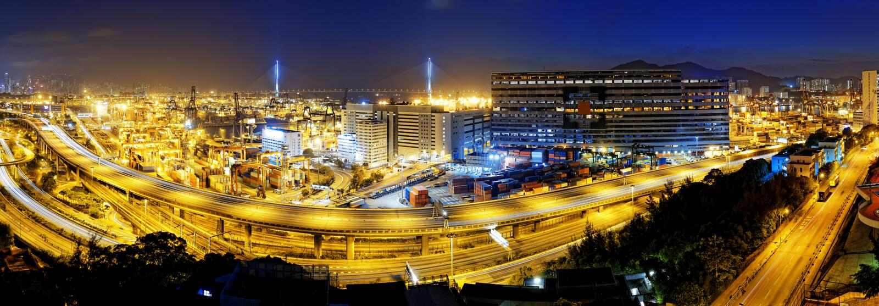 Kwai Tsing zbiornika terminale zdjęcia royalty free