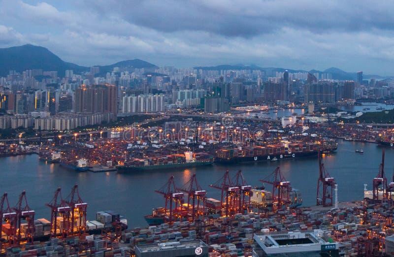 Kwai Tsing zbiornika terminale zdjęcia stock