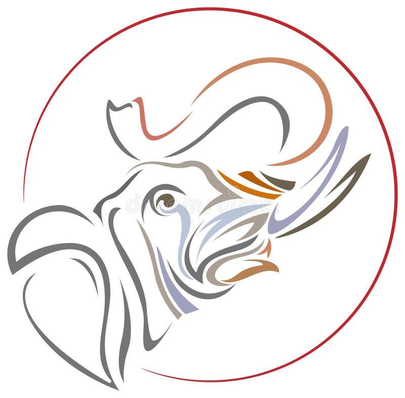 Kwaka słoń royalty ilustracja