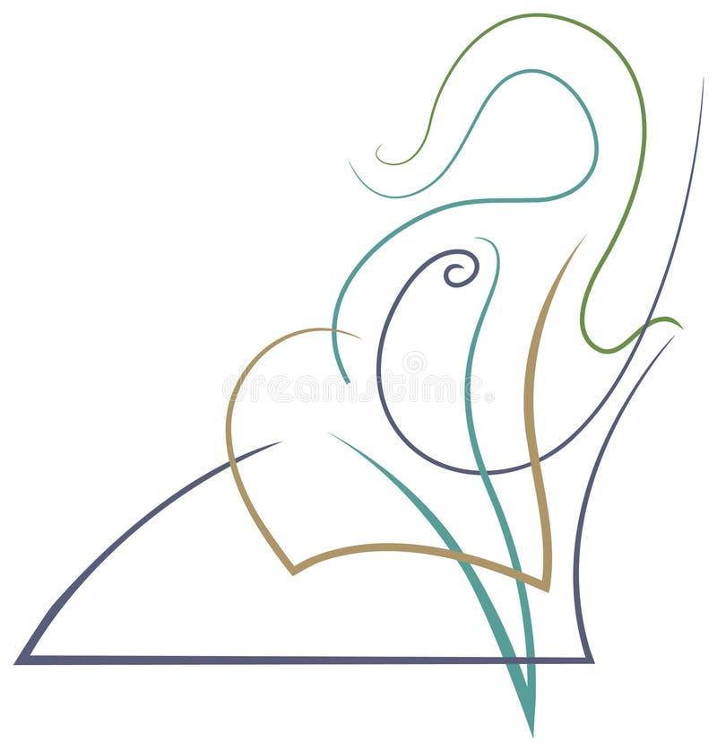 Kwaka słoń ilustracji