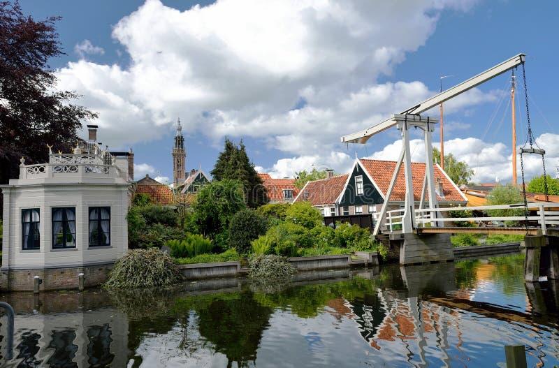 Kwakelbrug en Theehuis, Edam, Holland royalty-vrije stock foto's