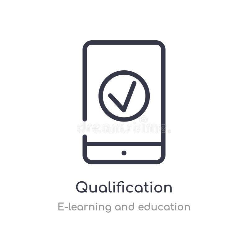 kwalifikacja konturu ikona odosobniona kreskowa wektorowa ilustracja od nauczania online i edukacji kolekcji editable cienieje ud ilustracja wektor