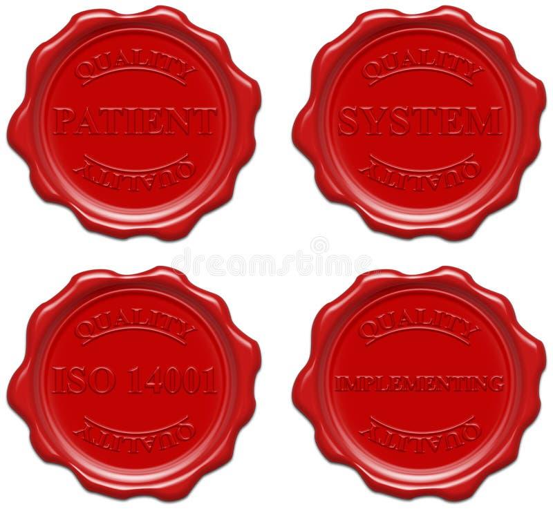 Kwaliteit, patiënt, systeem, ISO 14001, het uitvoeren stock illustratie