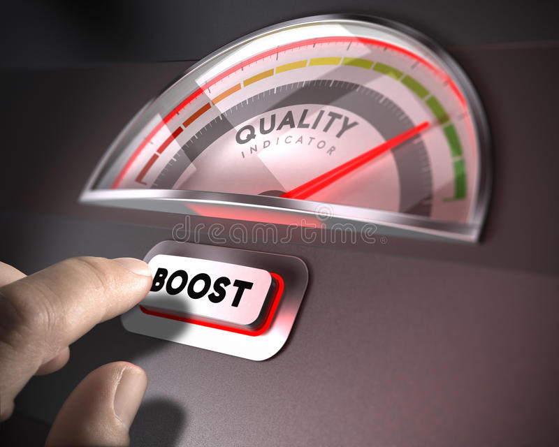Kwaliteitsbewakingsconcept stock illustratie