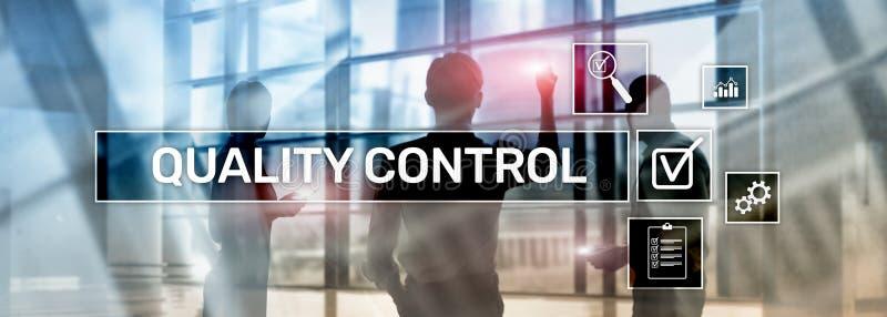 Kwaliteitscontrole en verzekering normalisatie waarborg normen Bedrijfs en technologieconcept stock foto's