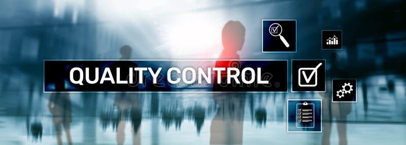 Kwaliteitscontrole en verzekering normalisatie waarborg normen Bedrijfs en technologieconcept stock foto