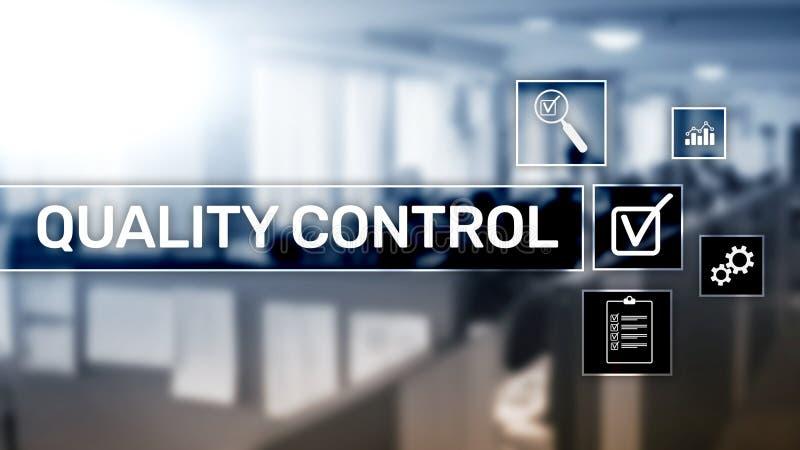 Kwaliteitscontrole en verzekering normalisatie waarborg normen Bedrijfs en technologieconcept royalty-vrije stock fotografie