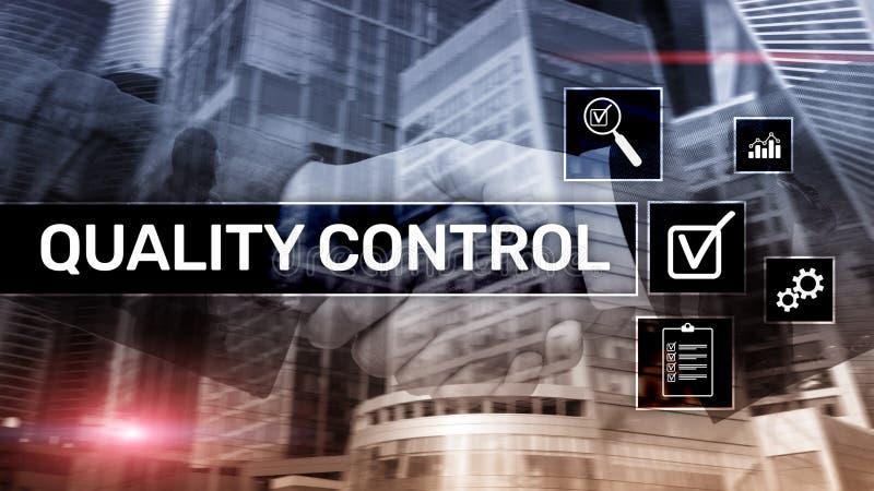Kwaliteitscontrole en verzekering normalisatie waarborg normen Bedrijfs en technologieconcept stock fotografie