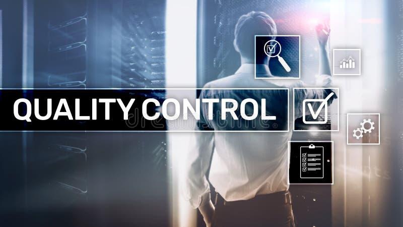 Kwaliteitscontrole en verzekering normalisatie waarborg normen Bedrijfs en technologieconcept royalty-vrije stock afbeeldingen