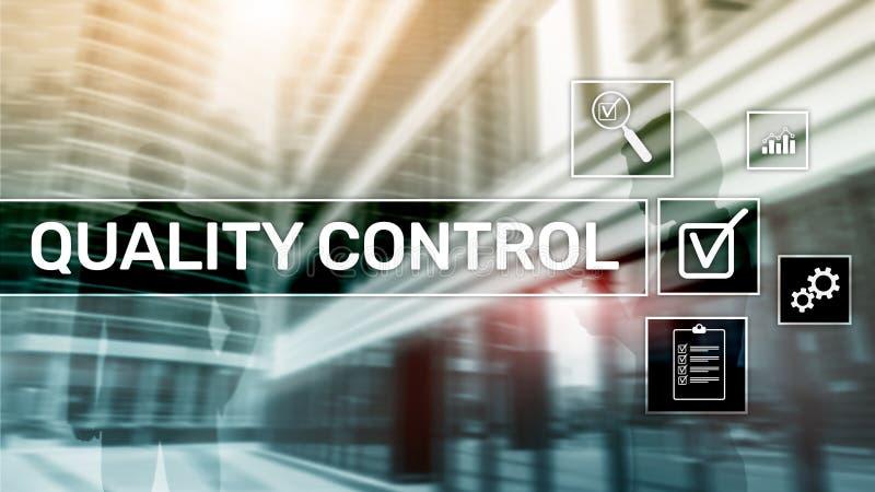 Kwaliteitscontrole en verzekering normalisatie waarborg normen Bedrijfs en technologieconcept stock afbeeldingen