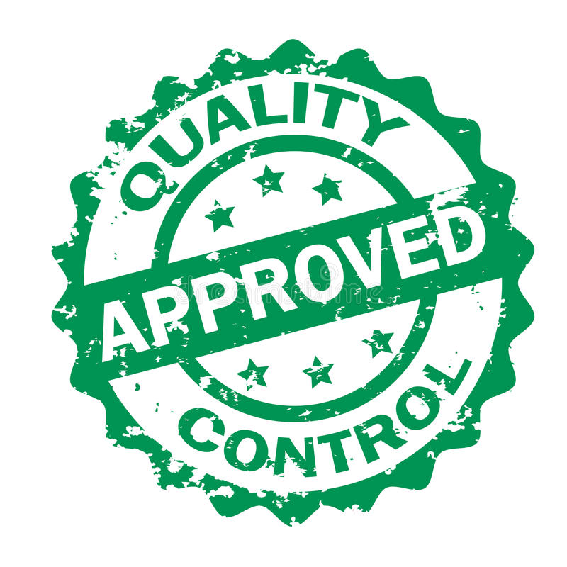 Kwaliteitscontrole Goedgekeurde zegel stock illustratie