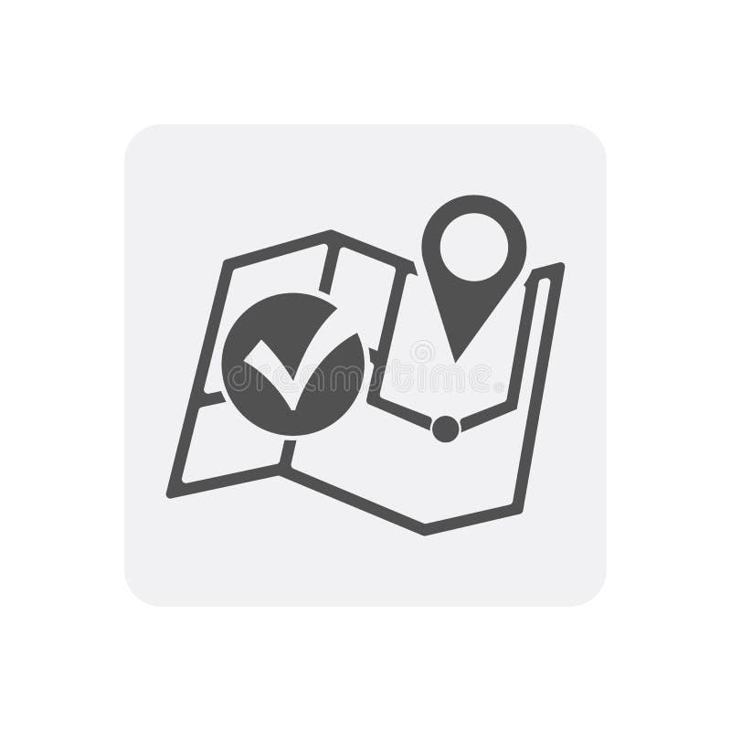 Kwaliteitscontrole thuis pictogram met speldwijzer vector illustratie