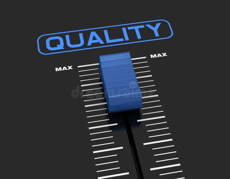 Kwaliteitsniveau stock illustratie