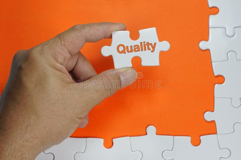 Kwaliteitstekst - Bedrijfsconcept stock foto's