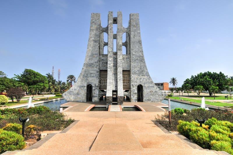 Kwame Nkrumah Memorial Park - Accra, Ghana fotografía de archivo