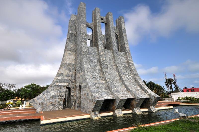 Kwame Nkrumah Memorial Park - Accra, Ghana imagen de archivo libre de regalías