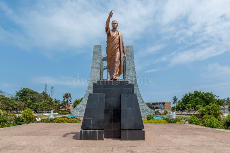 Kwame Nkrumah Statue royaltyfria bilder