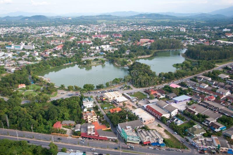 Kwanmuang Park in yala, thailand. Kwanmuang Park and cityscape in yala, thailand stock photo
