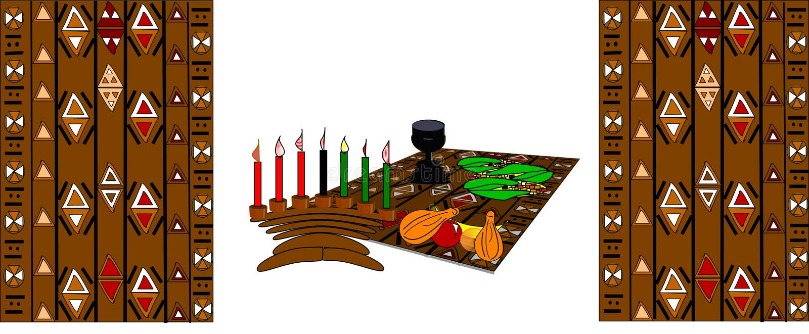 kwanzaa illustration stock
