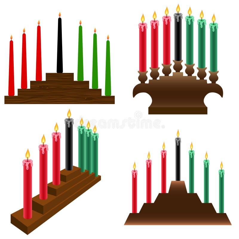 Kwanzaa candlestick royalty free illustration