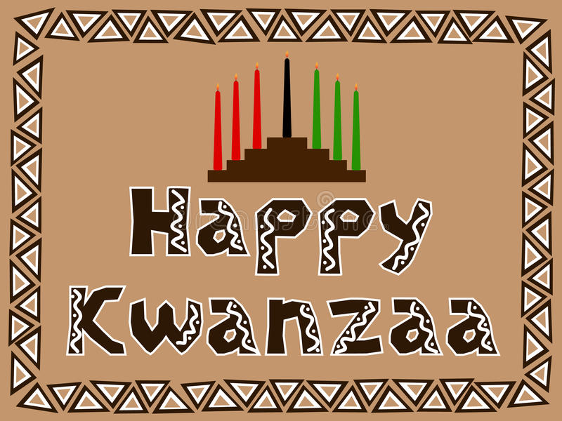 Kwanzaa feliz ilustração royalty free
