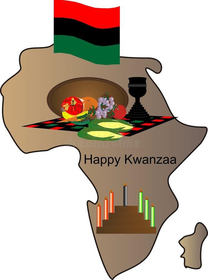 Kwanzaa feliz ilustração stock