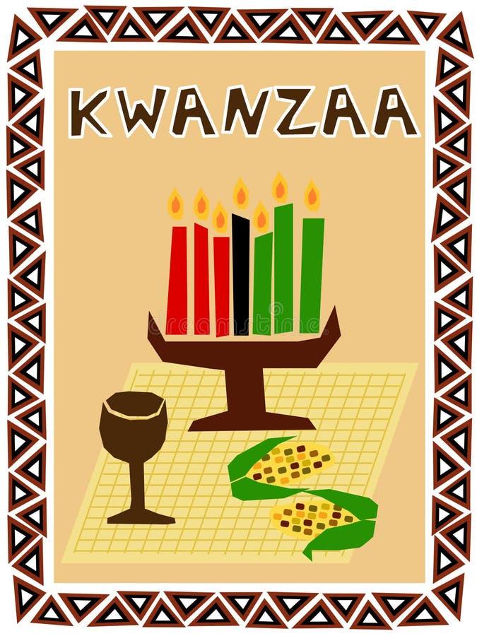 kwanzaa symboler royaltyfri illustrationer