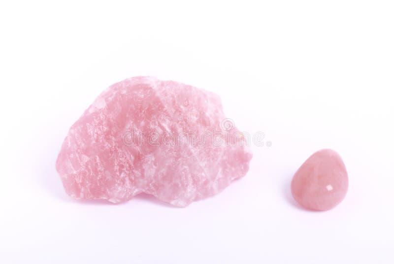 kwarc róży biel zdjęcia stock