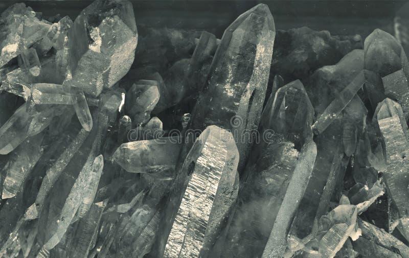 Kwarcowi kryształy fotografia stock