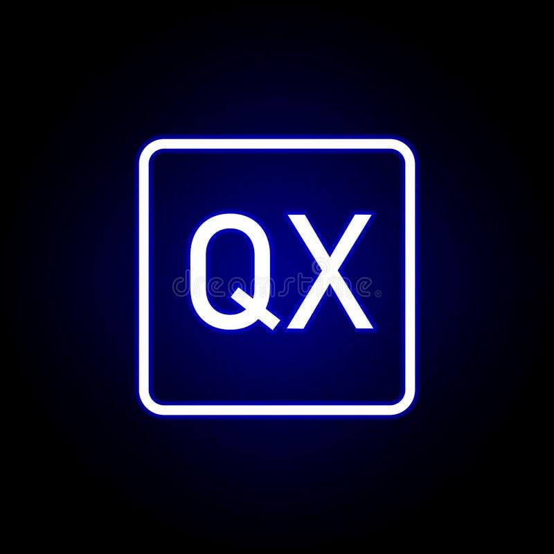 Kwark ikona w neonowym stylu Mo?e u?ywa? dla sieci, logo, mobilny app, UI, UX ilustracji