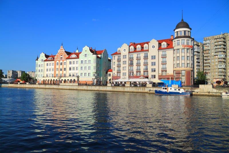 Kwartalna Rybia wioska stylizował pod architekturą przedwojenny Konigsberg obraz stock