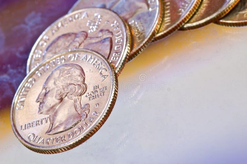 Kwartalni Dolary zdjęcie royalty free